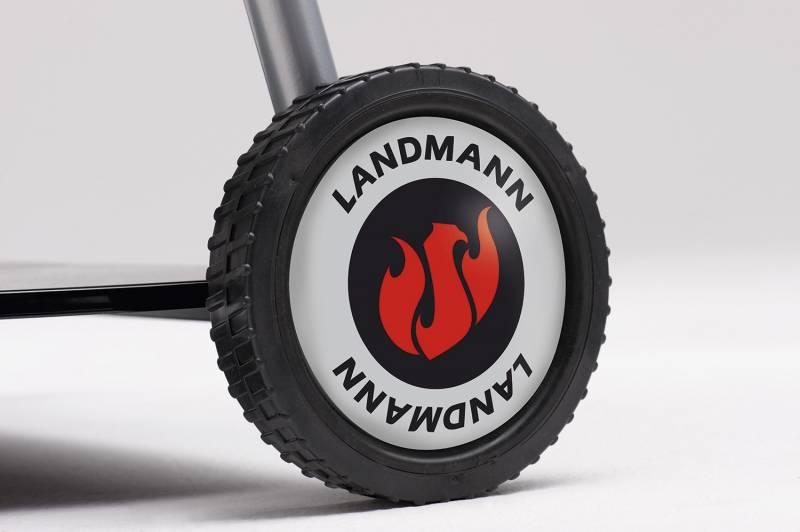 Landmann Holzkohlegrill: Kugelgrillwagen black pearl select 58 cm 31346 - Abverkauf