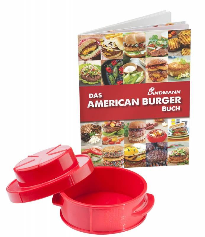 Landmann American Burger Set - Patty Presse mit Rezeptbuch
