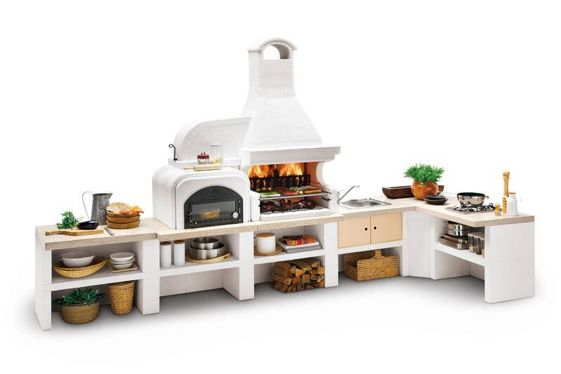 Palazzetti Gartenküche Malibu 2 Komplett