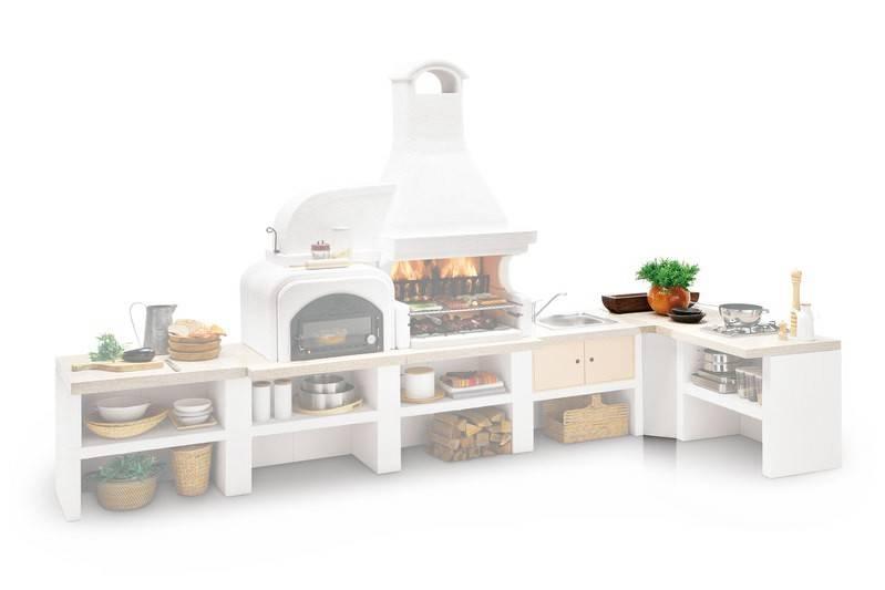 Palazzetti Gartenküche Malibu 2 Modul: Ecke