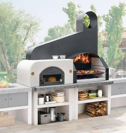 Palazzetti Gartenküche Maxime 2: Modul Grill mit Backofen inkl. Montagematerial