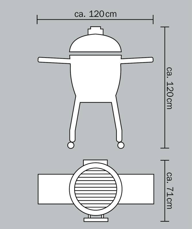 Monolith Grill Classic Red mit Gestell und Seitentischen MG18R - Set NEU 2016
