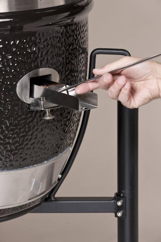 Monolith Grill Classic Black mit Gestell und Seitentischen MG18B - Set
