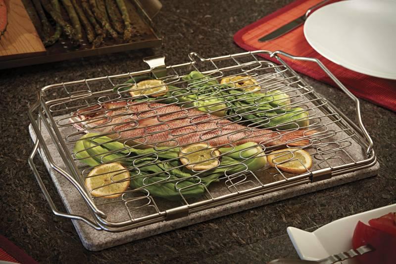 Napoleon Fisch- und Gemüsehalter klappbar, flexibel