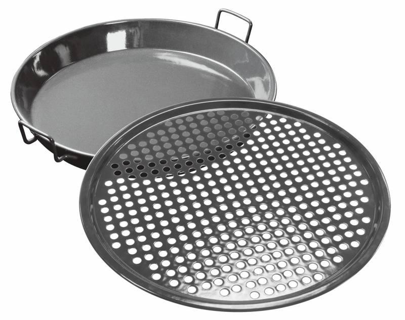 Outdoorchef Gourmet Set 420, 2-teilig (Universalpfanne Ø 34cm und Pizzablech Ø 35cm)