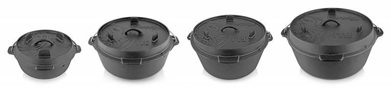 Petromax Feuertopf 11,4 Liter Dutch Oven - mit Füßen exklusiv mit Deckelheber