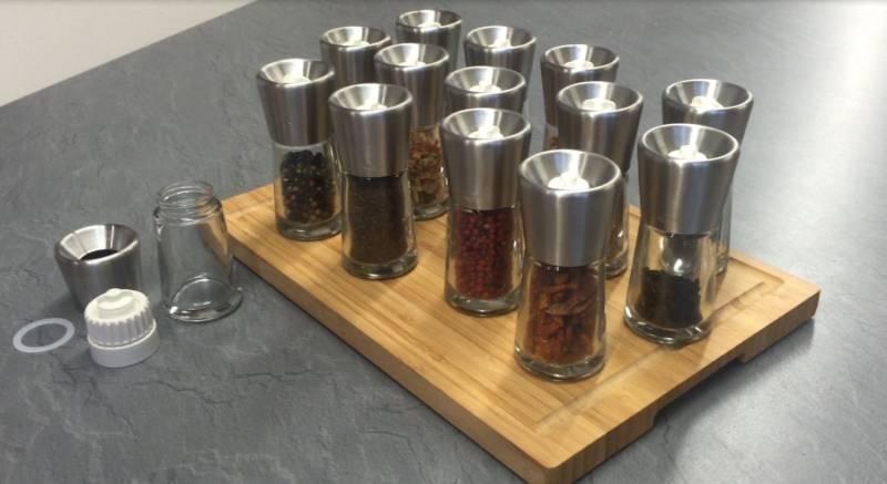 Rösle BBQ Pfeffer- und Gewürzmühle mit Keramik Mahlwerk