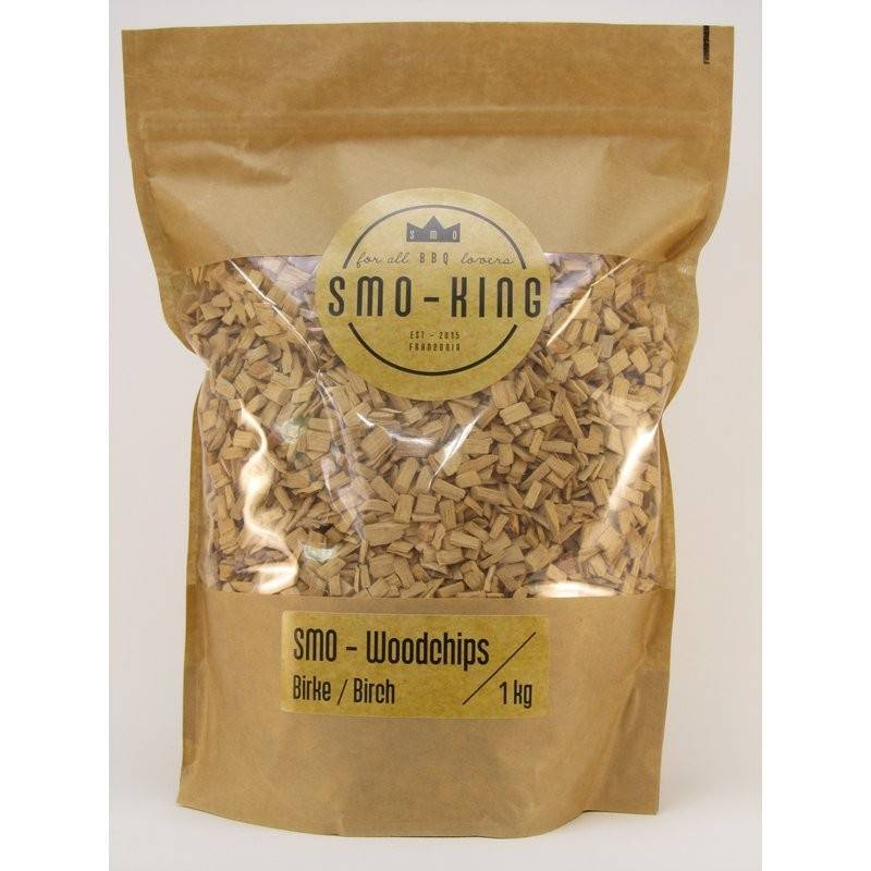 Smo-King Woodchips Birke 1kg, 3-10mm