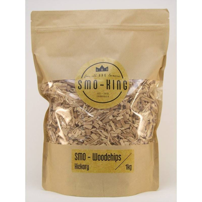 Smo-King Woodchips Hickory 1kg, 3-10mm