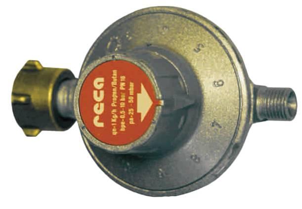 "TGO 11 Stufen Druckminderer, Flasche, 1/4"", 30-50mBar"