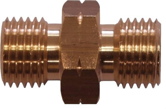 """TGO Gasschlauchverbinder 1/4""""L auf 1/4""""L"""