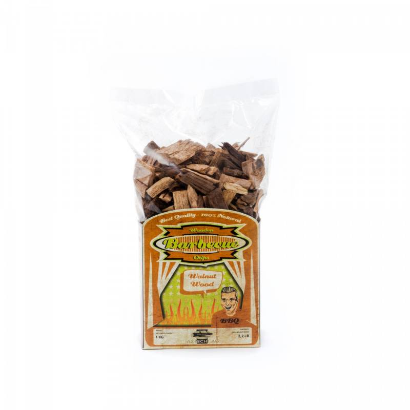 Axtschlag Räucherchips (Wood Chips) Walnut - Walnuss 1kg