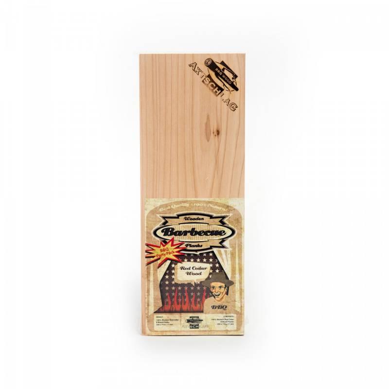 Axtschlag Räucherbretter (Wood Planks) 8er Pack Western Red Cedar - Rotzeder 30 x 11cm