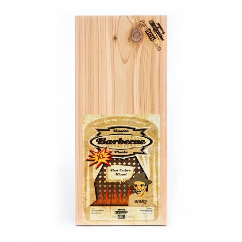 Axtschlag Räucherbretter (Wood Planks) 2er Pack Western Red Cedar - Rotzeder XL 40 x 17cm