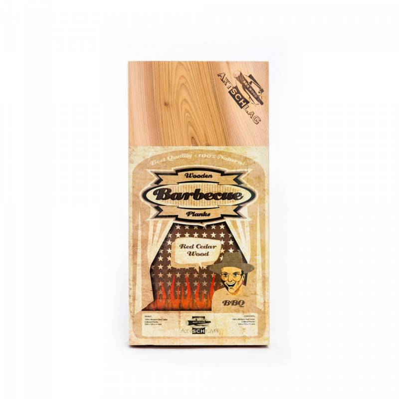Axtschlag Räucherbretter (Wood Planks) 3er Pack Western Red Cedar - Rotzeder 30 x 15cm