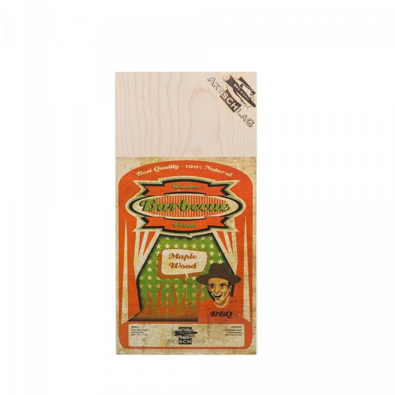 Auslaufartikel - Axtschlag Räucherbretter (Wood Planks) Maple - Ahorn 3er Pack 30 x 15cm