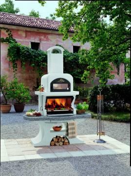 grillkamin mit pizzaofen f r den garten. Black Bedroom Furniture Sets. Home Design Ideas