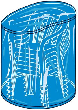 landmann stapelstuhlh lle blau rund 90x150cm. Black Bedroom Furniture Sets. Home Design Ideas