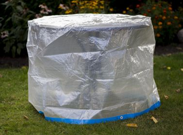 landmann tischh lle rund transparent 100x75cm. Black Bedroom Furniture Sets. Home Design Ideas