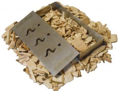 Woodchips in Räucherbox