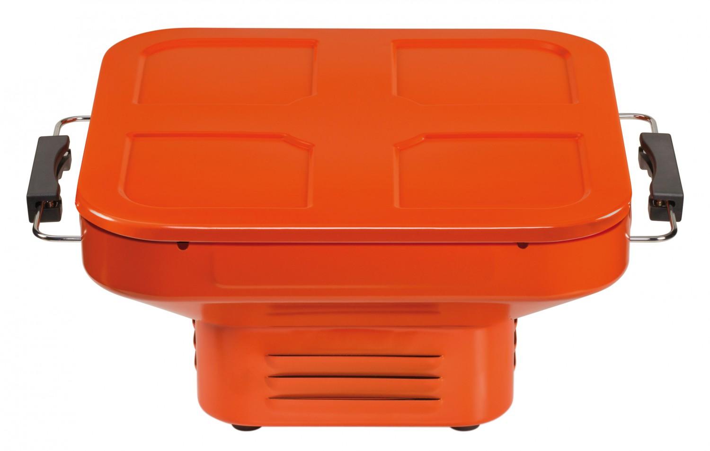 heat holzkohle tischgrill oder campinggrill turnon in orange. Black Bedroom Furniture Sets. Home Design Ideas