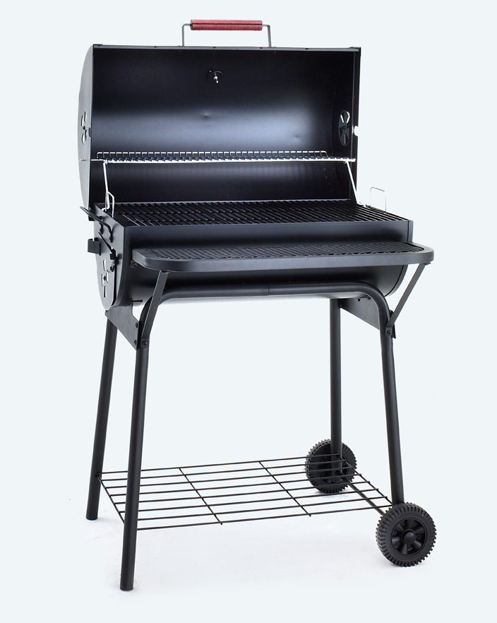 bbq grillwagen mit gas oder holzkohle smoker grillwagen g nstig kaufen. Black Bedroom Furniture Sets. Home Design Ideas