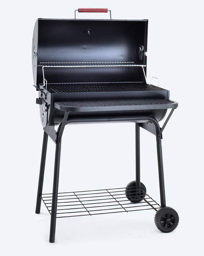 bbq grillwagen mit gas oder holzkohle smoker grillwagen. Black Bedroom Furniture Sets. Home Design Ideas
