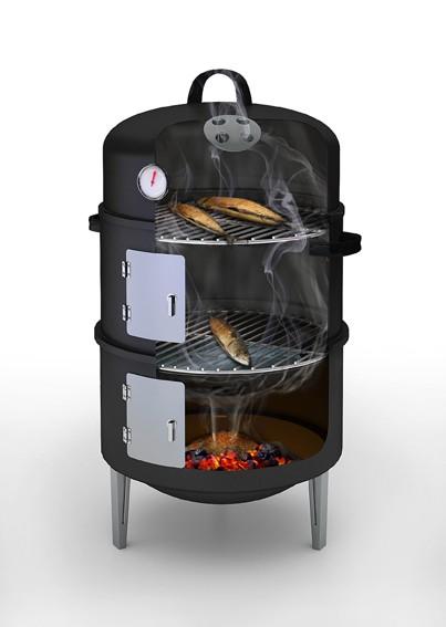 barbecook holzkohle smoker barbecook r ucherofen. Black Bedroom Furniture Sets. Home Design Ideas