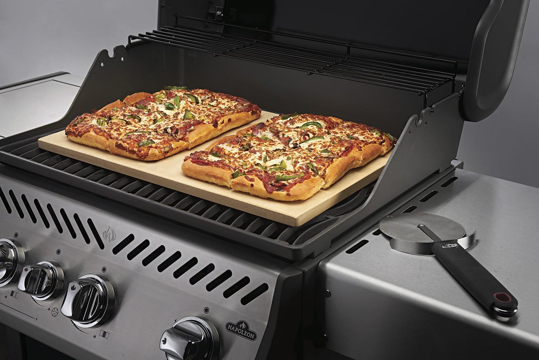 Pizzastein Für Gasgrill Landmann : Napoleon pizzastein rechteckig 51x34cm