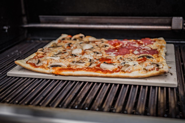 Pizzastein Für Gasgrill Landmann : Grillfürst pizzastein rechteckig abmessungen: 41 x 31 cm kaufen