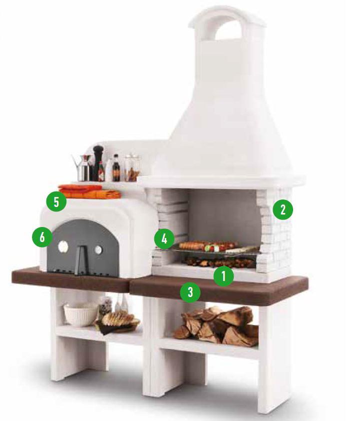 palazzetti grillkamin grado inkl montagematerial. Black Bedroom Furniture Sets. Home Design Ideas
