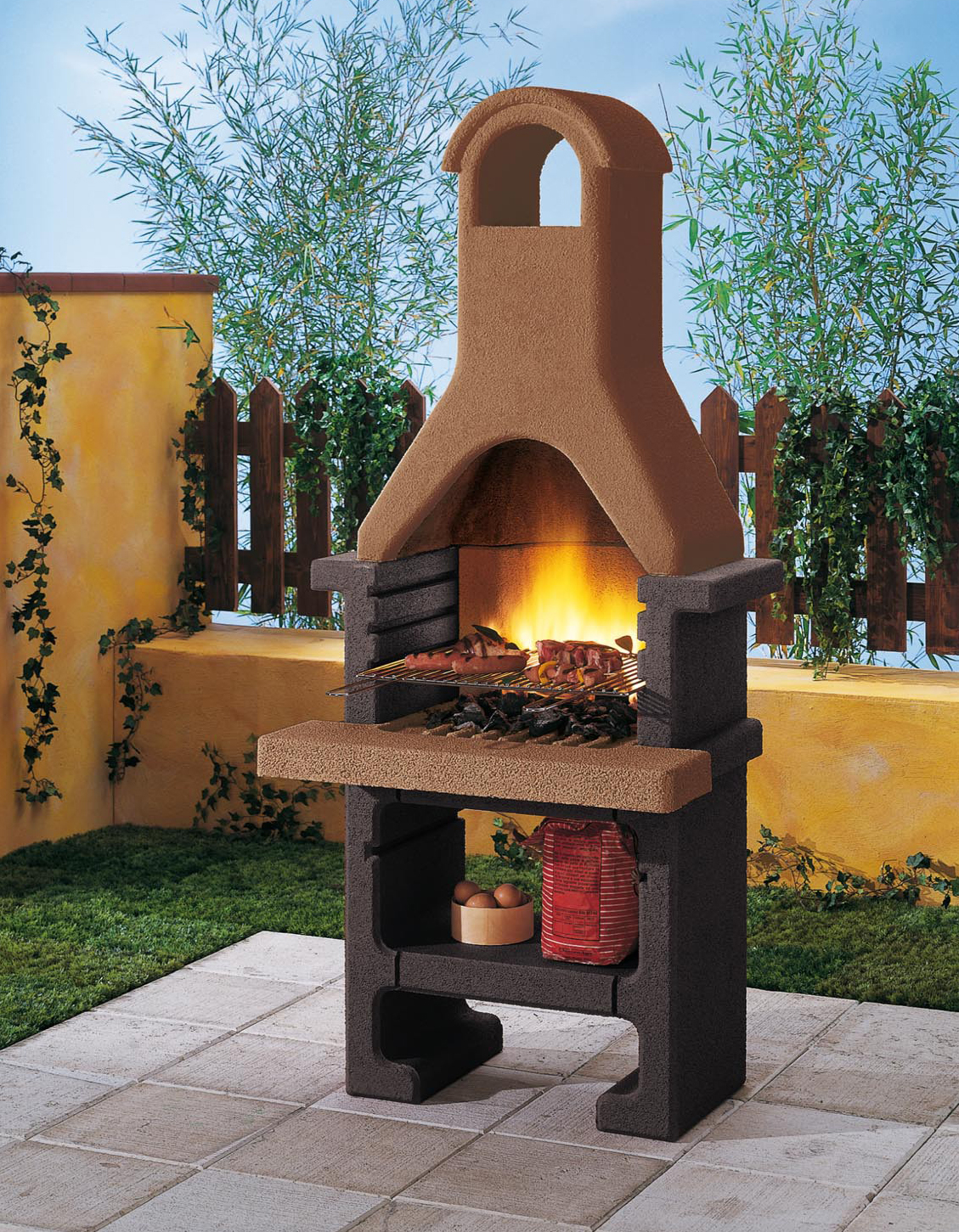 palazzetti grillkamin pantelleria inkl. montagematerial