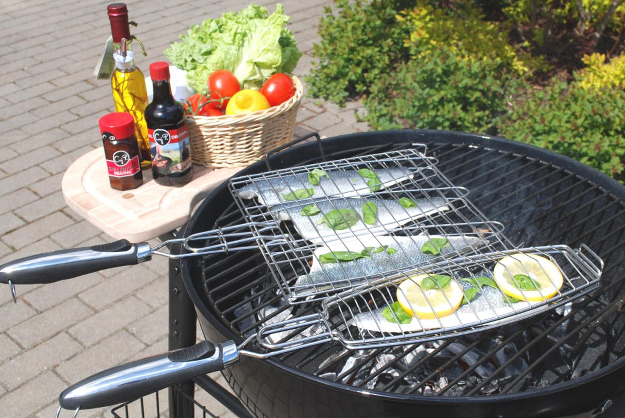 Weber Elektrogrill Lachs : Fisch vom grill? fischhalter oder fischbräter für jeden grill