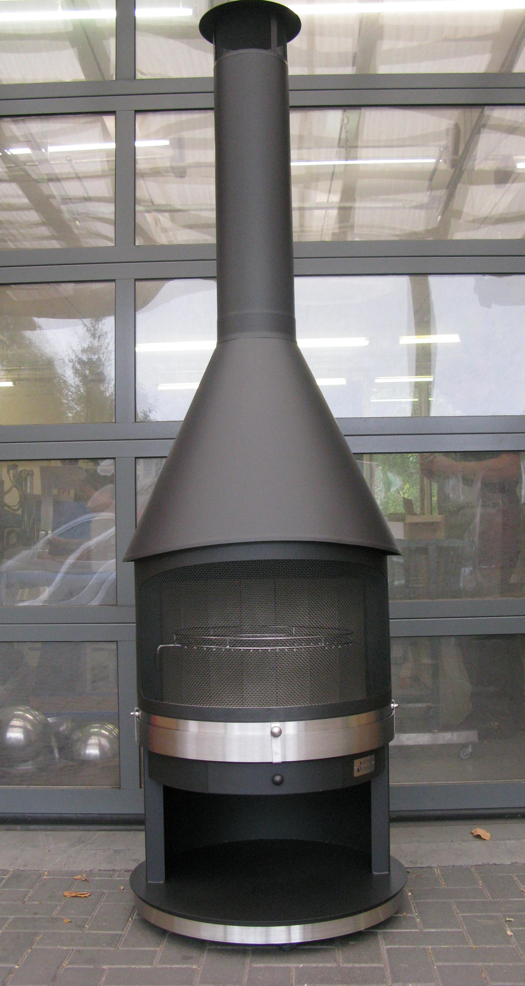 girse design grillkamin: tirol typ 2 gartenkamin grau