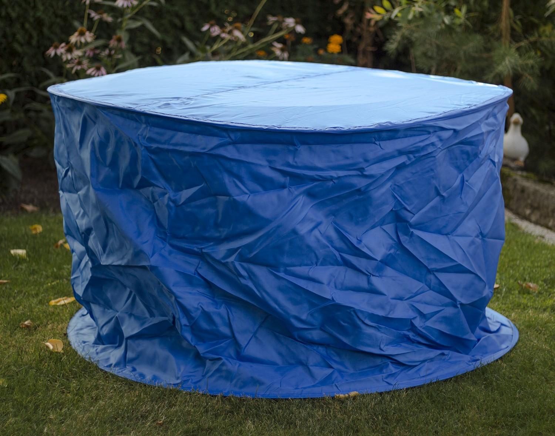 landmann tischh lle blau rund 125x90cm. Black Bedroom Furniture Sets. Home Design Ideas