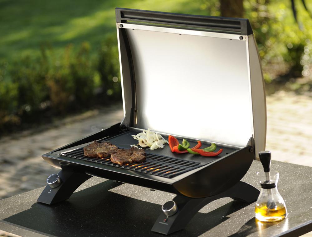 Als tischgrill ist ein elektrogrill die erste wahl - Barbecue electrique sur pied avec couvercle ...