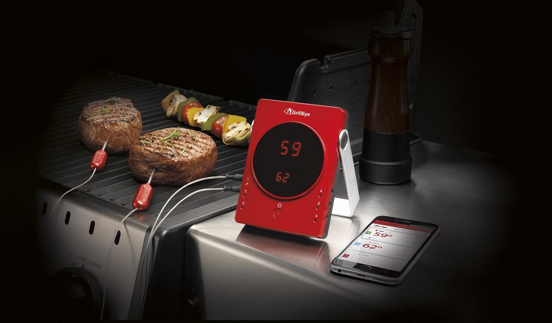Weber Elektrogrill Mit Thermometer : Grilleye bluetooth grill thermometer grill eye