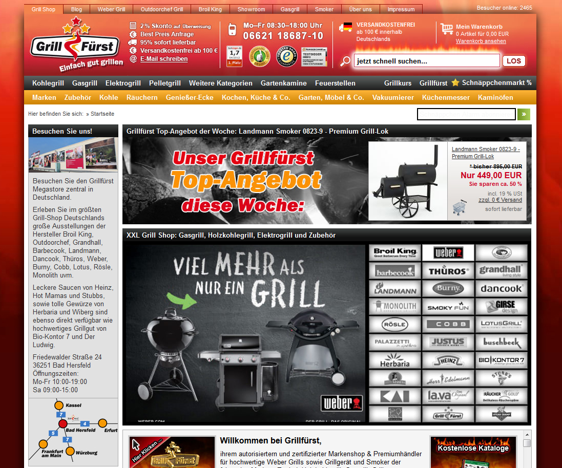 grill shop aus leidenschaft. Black Bedroom Furniture Sets. Home Design Ideas