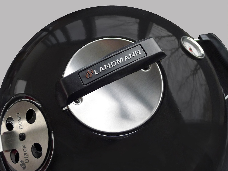 Landmann Holzkohlegrill Black Pearl Comfort : Landmann black pearl kugelgrill comfort 46 cm 31341