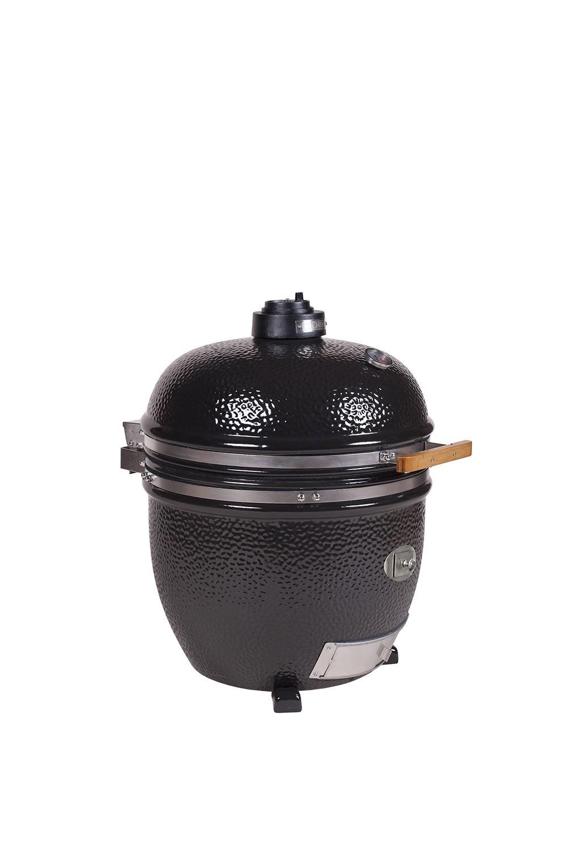 monolith grill lechef black im buggy der mobile keramikgrill. Black Bedroom Furniture Sets. Home Design Ideas