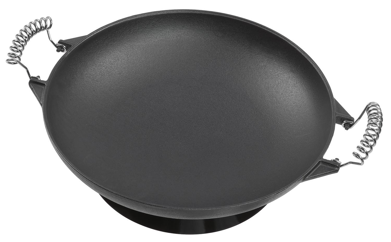 Wok Für Gasgrill : Universal wok aus gusseisen 35 cm