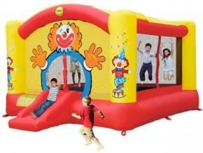 Hüpfburg HappyHop Super Clown 18,5 m²