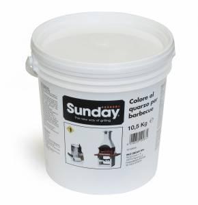 Farbe für Gartenkamine – weiß – 10,5 kg