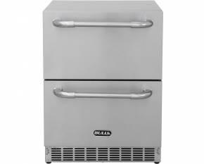 BULL Premium Outdoor Schubladen-Kühlschrank mit LED Kontrollpanel, IPX4 spritzwassergeschützt