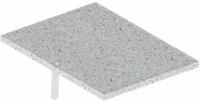 BULL Vulkangestein Plancha / Pizzastein / 38,5 x 49,5 cm (ersetzt 2 Grillroste)