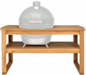 Big Green Egg Holztisch aus Akazienholz inkl. Rollen XLarge