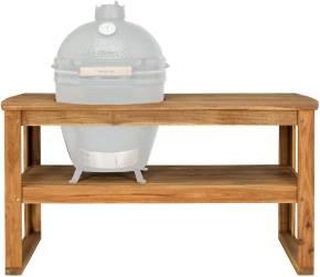 Big Green Egg Holztisch aus Akazienholz inkl. Rollen Large