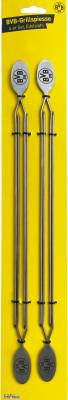 Grillfürst Edelstahl Grillspieße 35 cm 4er Set - Borussia Dortmund Edition