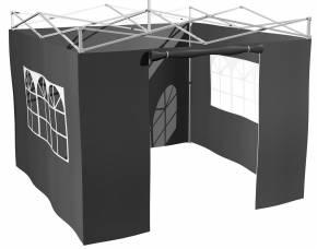 Grillfürst Seitenwände für 3x3m Grillpavillon / Gartenpavillon / Grillzelt 4er Set - neue Version 2.0