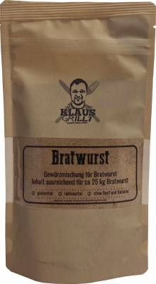 Bratwurst Gewürzmischung 150 g Beutel by Klaus grillt
